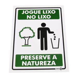 Placa-de-Sinalizacao-JOGUE-NO-LIXO---PRESERVE-A-NATUREZA-Ref-PS639-ENCARTALE