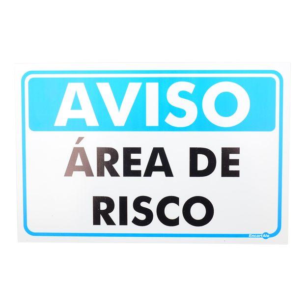 Placa-de-Sinalizacao-AVISO-AREA-DE-RISCO-Ref-PR4010-ENCARTALE