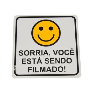 Placa-de-Sinalizacao-SORRIA-VOCE-ESTA-SENDO-FILMADO-Ref-16096-LOOK
