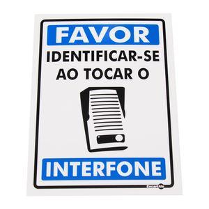 Placa-de-Sinalizacao-FAVOR-IDENTIFICAR-SE-AO-TOCAR-O-INTERFONE-Ref-PS578-ENCARTALE