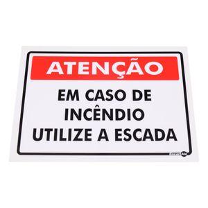 Placa-de-Sinalizacao-ATENCAO-EM-CASO-DE-INCENDIO-UTILIZE-A-ESCADA-Ref-PS-227-ENCARTALE-