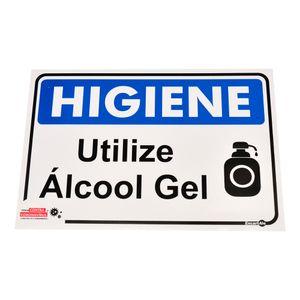 Placa-de-Sinalizacao-HIGIENE-UTILIZE-ALCOOL-GEL-Ref-PS485-ENCARTALE