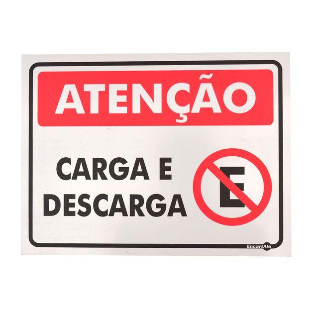 Placa-de-Sinalizacao-ATENCAO-CARGA-E-DESCARGA-Ref-PS522-ENCARTALE