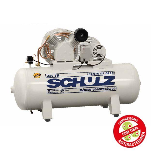 Compressor-de-Ar-Odonto-Isento-de-Oleo-220v-Ref-CSV-15-250-SCHULZ