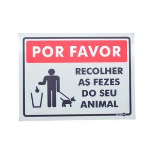 Placa-de-Sinalizacao-150x200mm---POR-FAVOR-RECOLHER-AS-FEZES-DO-SEU-ANIMAL---ENCARTALE-