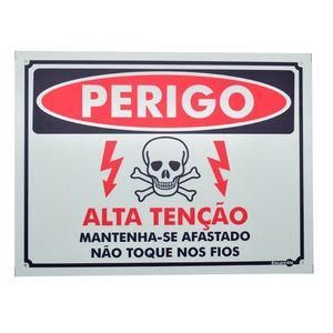 Placa-de-Sinalizacao-300x400mm---PERIGO-ALTA-TENSAO-MANTENHA-SE-AFASTADO-NAO-TOQUE-NOS-FIOS---ENCARTALE-