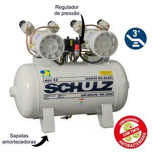 Compressor-de-Ar-Odonto-Isento-de-Oleo-220v-Ref-MSV12-100-SCHULZ
