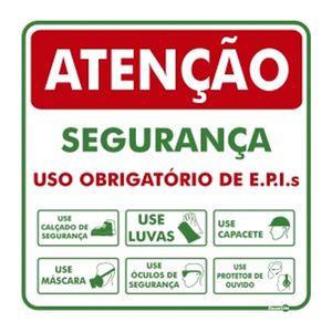 Placa-Sinalizadora-600x-600mm-SEGURANCA-USO-OBRIGATORIO-DE-EPI-S-PS594-ENCARTALE